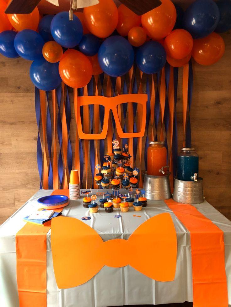Blippi Birthday decor in 2020 Birthday party decorations