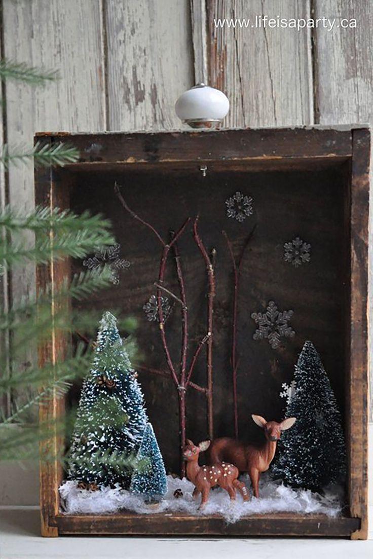 Legende Winterdioramen sind im Moment ein riesiger Trend und unsere weihnachtsliebenden Herzen platzen
