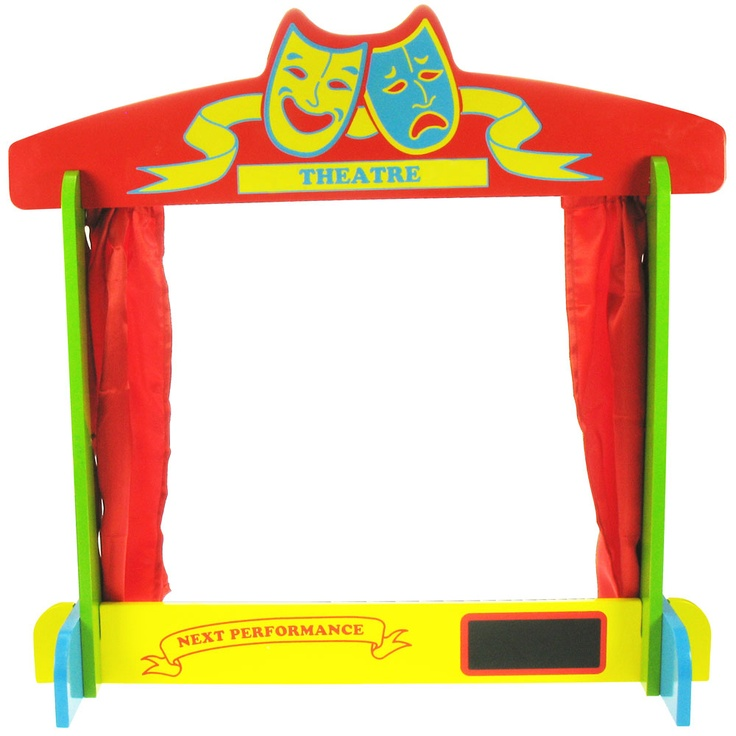 The ideal setting for any fabulous puppet show, this beautiful wooden table top theatre truly sets the stage for a magnificent performance. Complete with curtains that can draw, this traditional style frame is ideal for all your budding performers. Lights, camera, action!