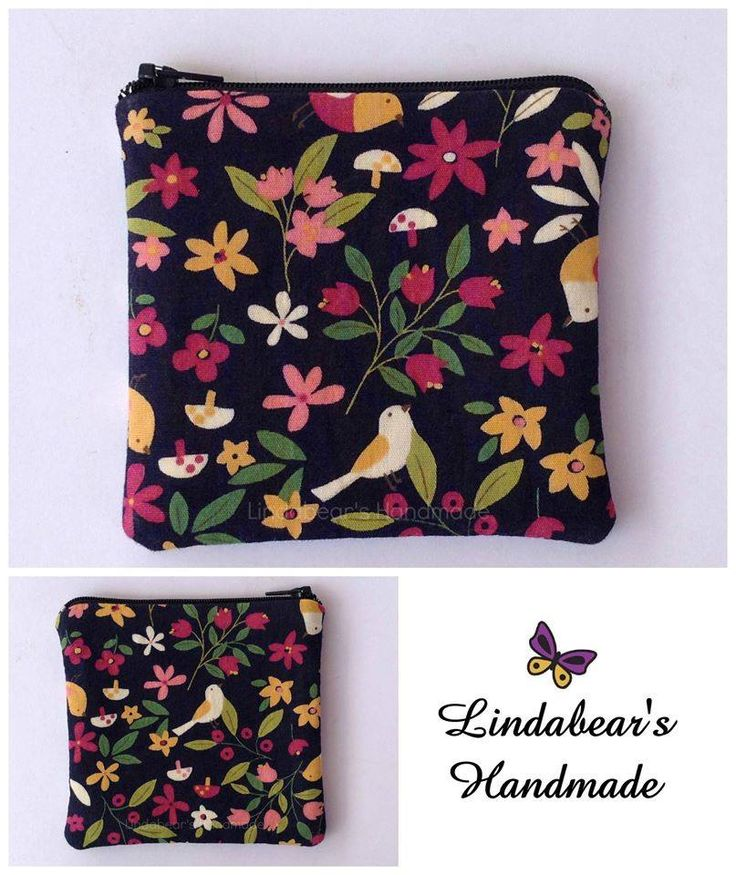 Made by Lindabears Handmade  Birds & Flowers Purse For more information, please visit https://www.facebook.com/HandmadeMarkets