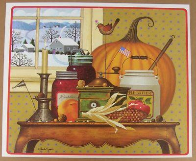 Charles Wysocki Bountiful Harvest 1985 Calendar Print