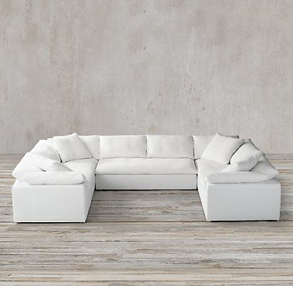 Cloud Track Arm Sectionals Restoration Hardware St Barts House Sectional Sofa Sofa Floor Decor More