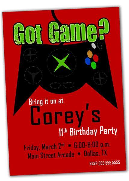 Printable Video Game Birthday Party Invitation By Khudd On Etsy 1000