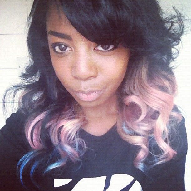111 best black girls with pastel hair color images on