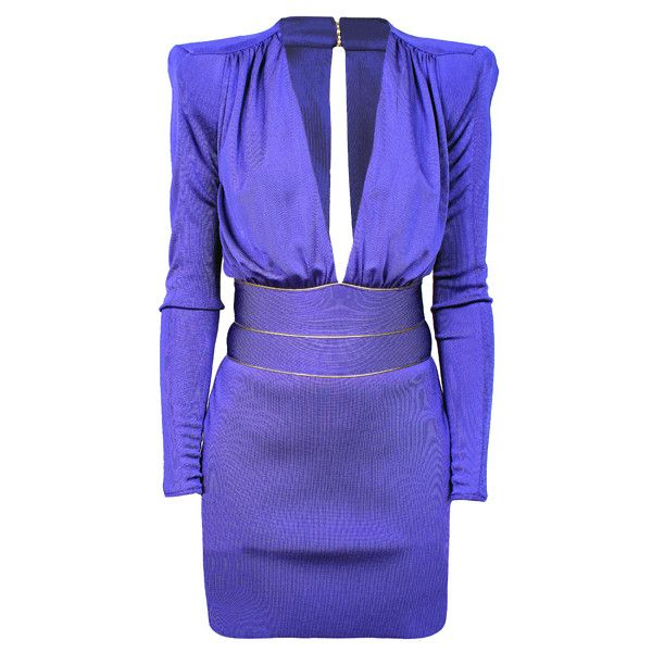 BALMAIN Violet Dress found on Polyvore