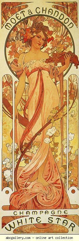 Alphonse Mucha. Moët & Chandon -   White Star. Olga's Gallery.