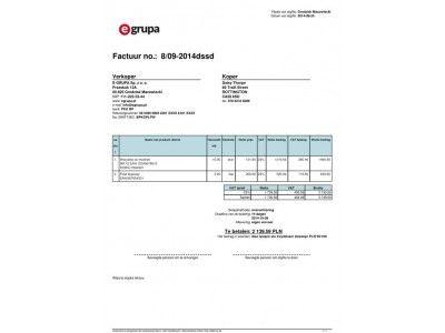 faktura po holendersku wzór w PDF