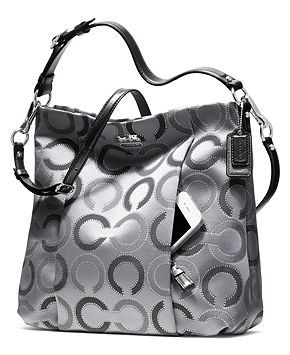 COACH MADISON DOTTED OP ART OUTLINE ISABELLE - COACH - Handbags & Accessories - Macy's