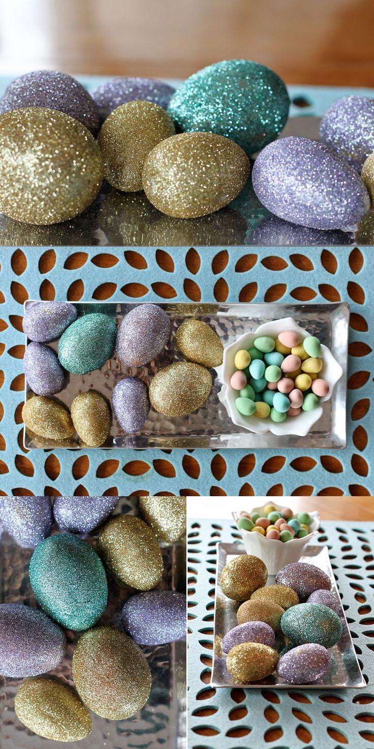 DIY Glitter Easter egg craft!