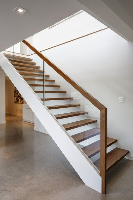 Pin On Interior Railing | Wooden Stairs Railing Design With Glass