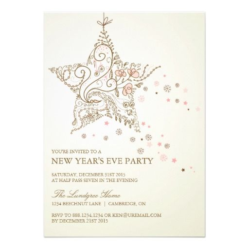 Best Exceptional New Year Invites Images On   Invites