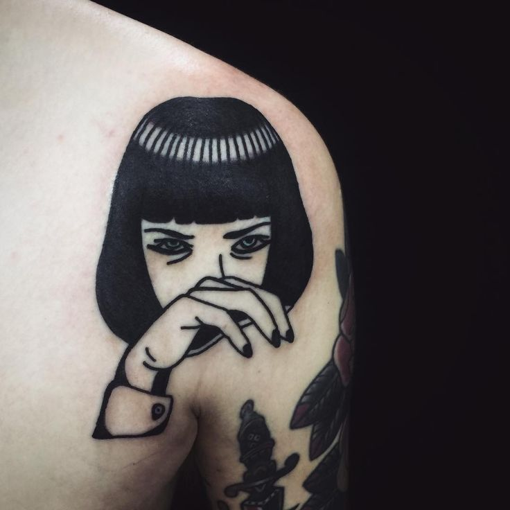 Oh my god this Mia Wallace tattoo