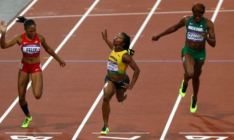The first Caribbean woman to win 100m gold at the Olympics and defended her title in Olympics 2012.