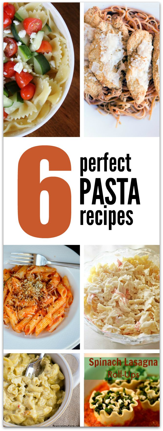 6 Perfect Pasta Recipes. TablerPartyofTwo.com