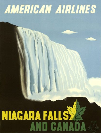 American Airlines Niagara Falls Canada 1948 - Mad Men Art: The 1891-1970 Vintage Advertisement Art Collection