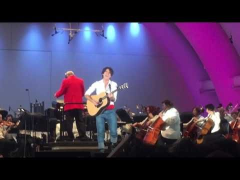 """Darren Criss """"Her Voice"""" Little Mermaid Live at Hollywood Bowl 6/3/16 - YouTube"""