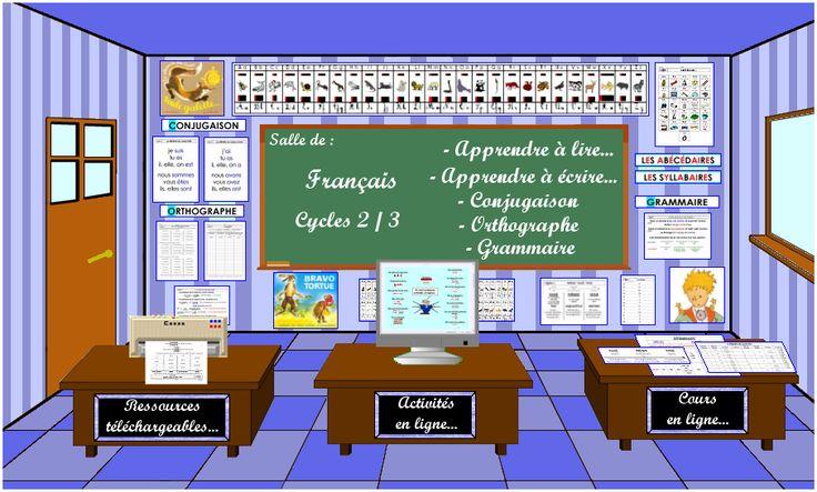 Soutien scolaire en français  WOW !!!! Super ressource  Plein de trucS à imprimer