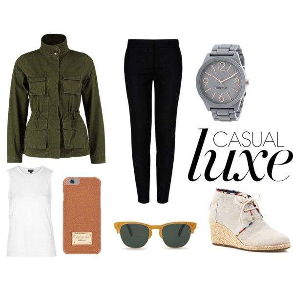 Casual Luxe by julia83 on Polyvore featuring Topshop, even&odd, STELLA McCARTNEY, TOMS, Nine West and Michael Kors