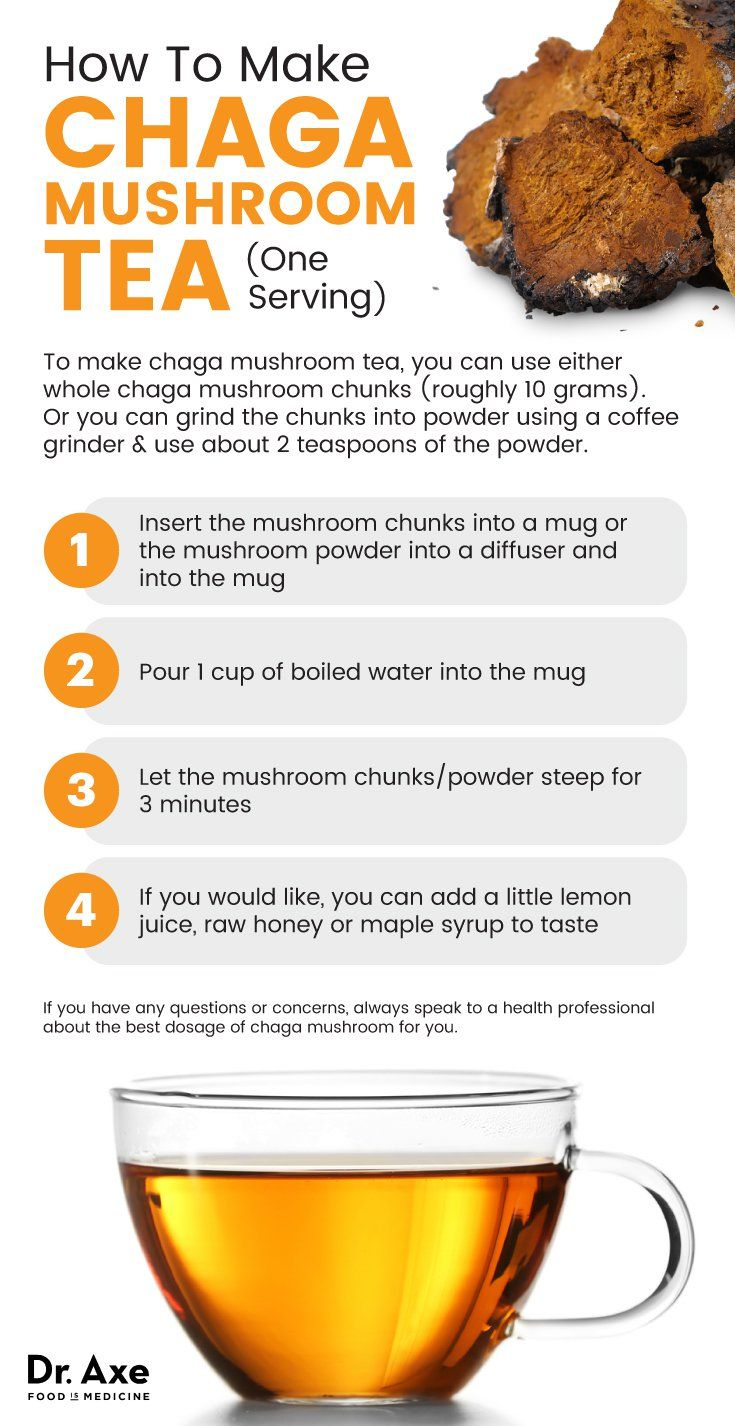 Chaga mushroom tea - Dr. Axe