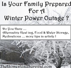 how to prepare for power outage in winter