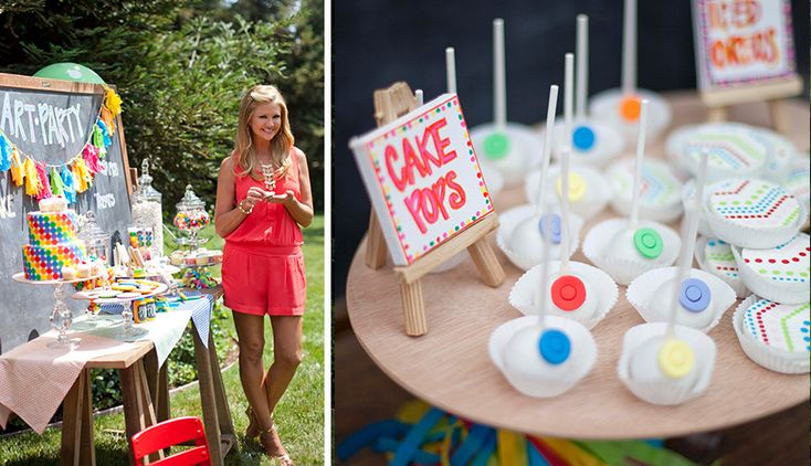 Nancy O'Dell's Rainbow Art Party :: Featured Party | The TomKat Studio