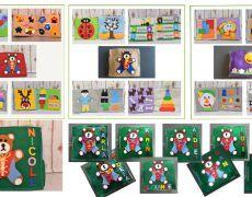 Carte senzoriala din fetru cu activitati pentru copii Quiet book Model 5