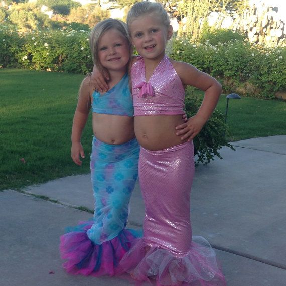 Toddler Mermaid Costume by TinyChums on Etsy