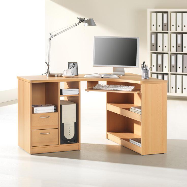 """Der Computertisch """"Tango"""" in gewohnter CANTUS Qualität ist das perfekte Büromöbel, mit dem Sie hervorragend arbeiten. Auf einer Breite von ca. 138 cm haben Sie alles griffbereit: Drucker und Computer finden in speziellen Fächern Platz, auch die Tastatur ist dank Auszug perfekt erreichbar. In 2 Schubladen und weiteren offenen Fächern bewahren Sie beispielsweise Zubehör, CDs oder Unterlagen platzsparend auf. Vielseitig und praktisch!"""