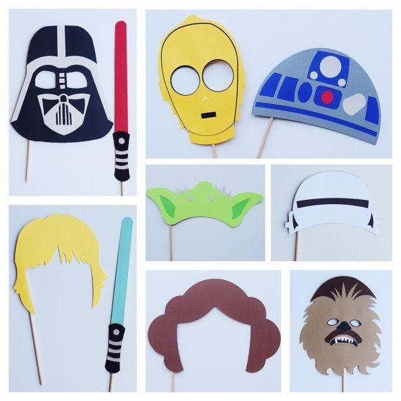 Disney Star Wars Photo Booth Props Decoración fiesta de by LetsGetDecorative | Etsy