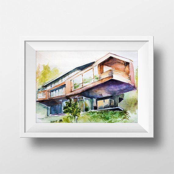 Wall Art Twilight S Cullen Family Residence Watercolor Print The Twilight Saga Twilight House Twilight Fan Gift Twilight Twilight Poster Saga Art Twilight Fans