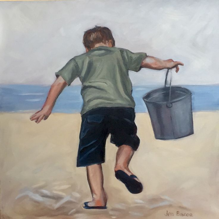 A personal favourite from my Etsy shop https://www.etsy.com/au/listing/290495873/original-oil-painting-little-boy-playing