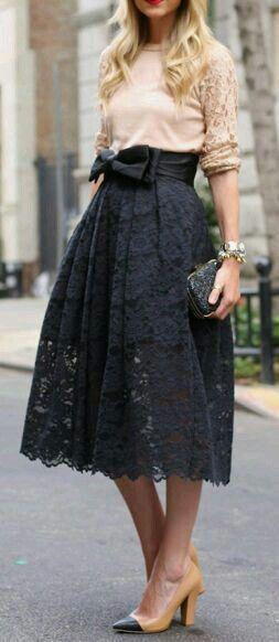 Love the black lace