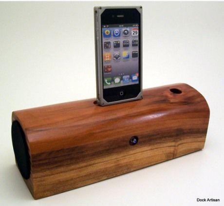 dock artisan rock n wood iphone speaker dock gadget gifts and cool pinterest rocks. Black Bedroom Furniture Sets. Home Design Ideas