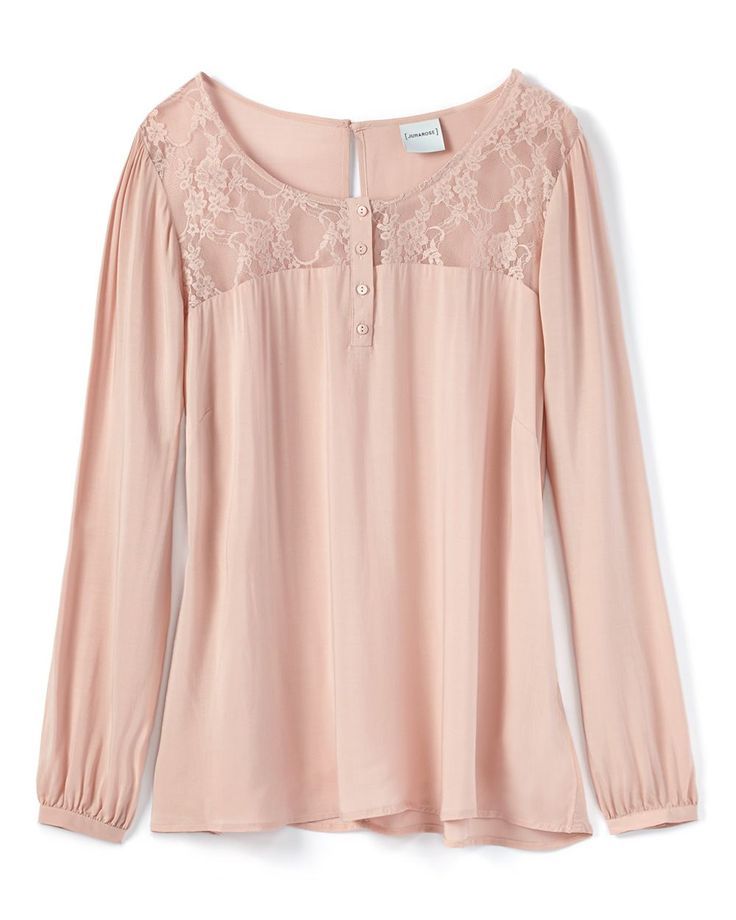 JUNAROSE Long Sleeve Lace Detail Blouse | Penningtons