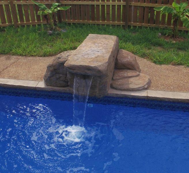 Inground Pool Jump Rock Waterfall Google Search In 2019