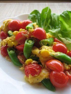 カラフル野菜のツナスクランブルエッグ