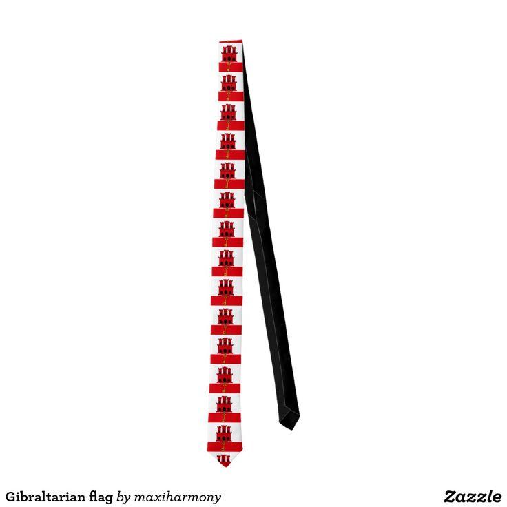Gibraltarian flag tie