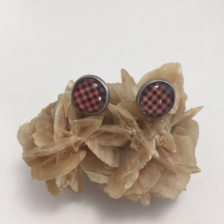 Boucles d'oreilles cabochon de verre