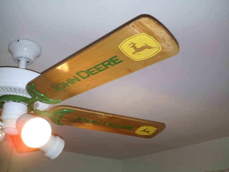 Custom made, Laser engraved fan blades. Hailee would love this in pink John Deere!