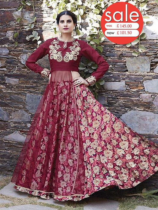 Buy latest designs of long salwar kameez suits online at ZaraaFab. We offer an exclusive collection of Indian designer women clothing at great discount price. #salwarkameez #salwarsuits #onlineshopping #vintagefashion #retrostyle  #desistyle #indianbride #indianfashion