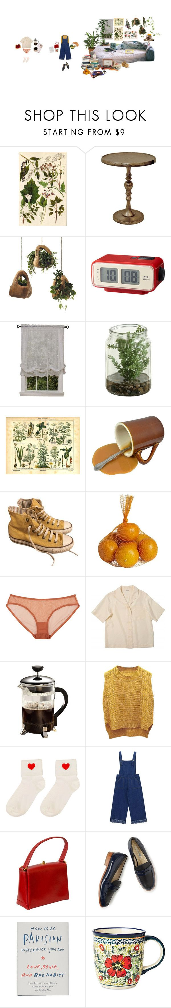 """""""morning and day"""" by steve-buscemi ❤ liked on Polyvore featuring Renwil, Dot & Bo, IDEA International, Habitat, Crosley, Converse, ...Lost, Pier 1 Imports, Eres and Primula"""