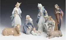 NAO LLADRO PORCELAIN NATIVITY 8 FIGURE SET