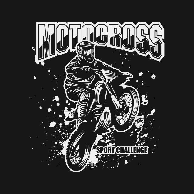Motocross Sport Challenge Vector Illustration For Your Company Or Brand Action Background Bike Png And Vector With Transparent Background For Free Download Seni Gelap Logo Keren Seni