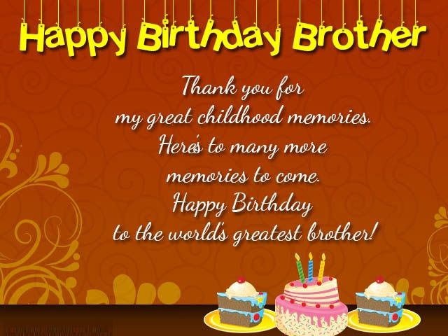 Best 25 Brother birthday wishes ideas – Birthday Greetings to Brother