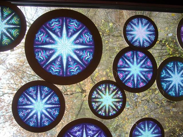 Winter ~ Advent ~ Week One: Crystal & Stone ~ Window Rosettes