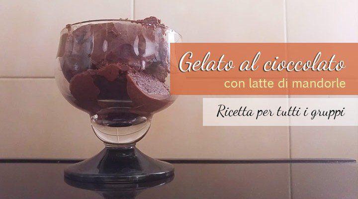Gelato al cioccolato con latte di mandorle senza lattosio