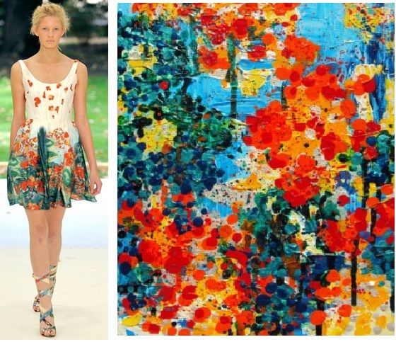 Splash Connect :- Erdem Spring 2011 - Ready-to-wear - Palette Splash - Blue / Emerald / Cadmium Orange / Golden Yellow / Pale Yellow