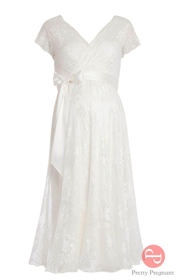 Короткое свадебное платье для беременных Эден Айвори II. Свадебные платья для беременных в Москве - только в магазине PrettyPregnant.ru.