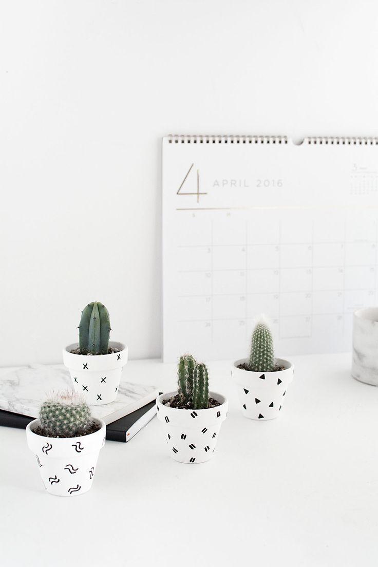 DIY Mini Patterned Plant Pots - Homey Oh My!