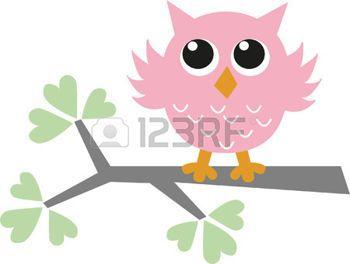 bebe: un pequeño búho rosado dulce